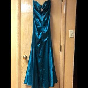 Teal Mermaid Dress